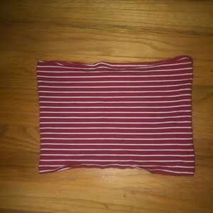 Red Striped Tube Top